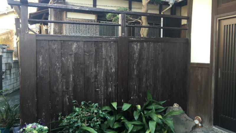 築15年の木塀の修繕依頼でした。
